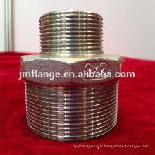 Tétons hexagonaux réducteurs en acier inoxydable 304 / 316l
