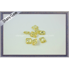 Light Yellow Cubic Zirconia Radiation Cut Gemstone