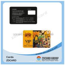 Tarjeta de visita plástica elegante modificada para requisitos particulares del PVC