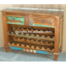 recycle wood wine rack
