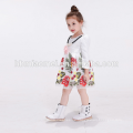 Baby-Kleid entwirft weiße Blume Säuglingskinderkleid Kleine Mädchen-Partei-Abnutzungs-Blumenmädchenkleid mit langer Hülse