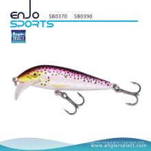 Angler Select Plastic Bait Shallow Fishing Tackle Lure with Vmc Treble Hooks (SB0370)