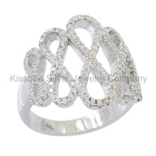 925 Sterling Silver Jewelry Infinity CZ Ring (KR3086)