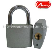 Silberfarbenes Vorhängeschloss, Grau Eisen Vorhängeschloss. Normaler Schlüssel (303S)