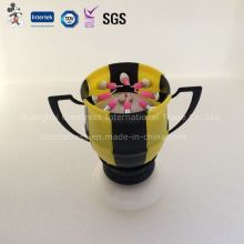 Football Cup Rotating Blooming Musical Candle