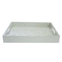 Hotel Supplies White Freshwater Shell Tray