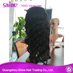 No Shed Brazilian Human Hair Body Wave Full Lace Wig Sew In