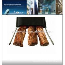Cable de elevador de grúa plana, conductor de cobre, aislamiento de PVC-funda, cable de ascensor