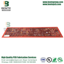 IT180 Multilayer PCB Thick Gold 6 Layers PCB ENIG 3U""