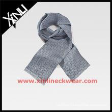 Серый напечатанный продолговатый Алибаба шарфы шелк