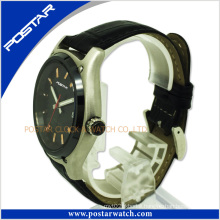 Manufacturer Custom Logo OEM Brand Sport Men′s Leather Watch with High Quality
