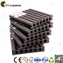 WPC Coffee Fsc/Ce/SGS/ISO Hollow Plastic Composite Decking Floor 140X25mm