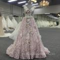 Бохо кружева розовый V шеи платье спинки женщин платье BB070
