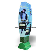 Floor Standing Cardboard Corrugated Pop Displays With Hooks / Pegs For Hanging Items