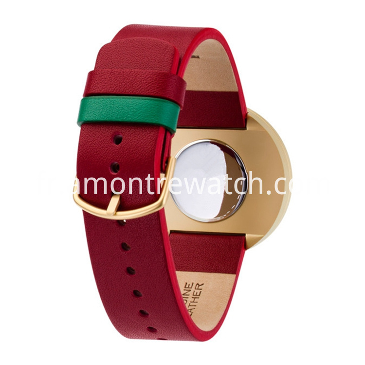 calf leather strap watch