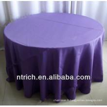Tissu de table anti-rides polyester visa pour banquet