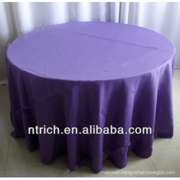 Anti-wrinkle polyester visa table cloth for banquet