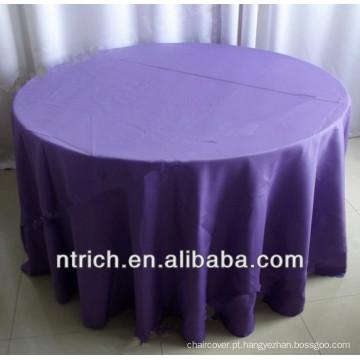 Toalha de mesa poliéster visto anti-rugas para banquete