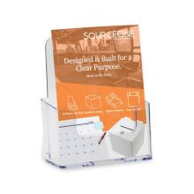 Clear Acrylic Brochure Booklet Countertop Holder Organizer
