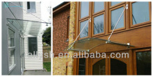 Glass canopy awning system