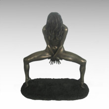 Nude Figure Statue Lady Dance Bronze Sculpture TPE-679