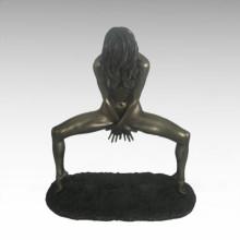 Обнаженная фигура Статуя Леди Танцующая Бронзовая скульптура TPE-679