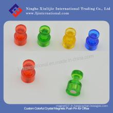 Broche magnétique en cristal coloré personnalisé pour bureau