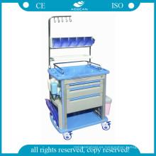 AG-NT003A1 Lujoso material ABS mueble médico enfermería carro