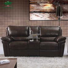 Chinese Top Grain Half Leather Living Room Sofa Chaise Sectional Leather Furniture