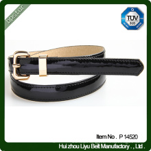 Colorful Skinny PU Patent Belt for Lady