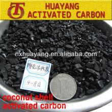 850 mg / g de teor de iodo casca de coco granular carbono ativado