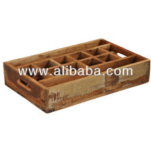 recycle wood vintage tray