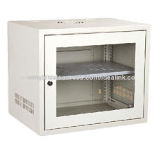 Wall-mounted SPCC Network Cabinet, Made of Cold-rolled Steel Material with Glass DoorNew