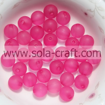 Custom Decorative Transparent Acrylic plastic Ball Rose 8MM Beads For Weeding Decoration