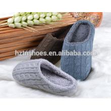 2016 mulheres ou homens cabo tricô chinelo fechado dedo do pé cashmere inverno sapatos indoor