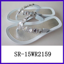 Hot sell lastest woman sandals new design wedge crystal sandals woman sandal