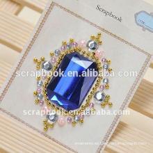 etiqueta engomada de la pared joyas de etiqueta DIY etiqueta estática etiqueta libro grande de diamantes de imitación para scrapbook