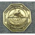 Fabricante fabricante de metal personalizado / antiguidade / lembrança / ouro / militar / prata policial desafio moeda com logotipo não mínimo