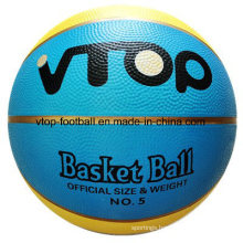 Two Color 8 Panels Gold Line Rubber Basketball Toys for Promotion