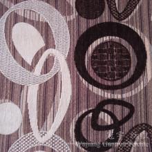 Tissu de tissu de polyester de motif de cercle Chenille teint