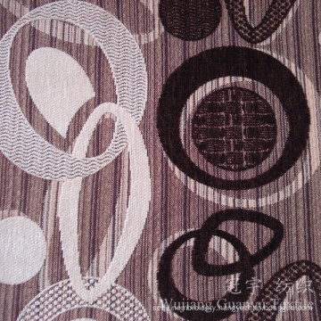 Circle Pattern Polyester Fabric Yarn Dyed Chenille