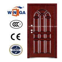 Puerta blindada de madera de acero del MDF del mercado exterior de Irán (W-A12)