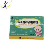 Caja de píldora de papel de cartón de niños resistente personalizado