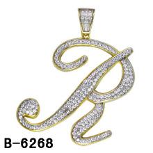 Men′s Jewelry 925 Silver Micro Setting Letter Pendant.