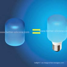 Cubierta de bombilla de silicona LED elástica colorida