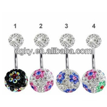 Shamballa ball piercing nombril ventre bijoux