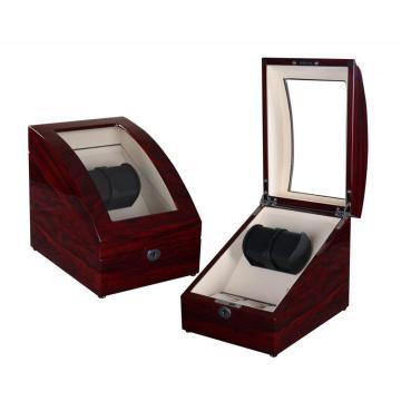 Rose Wood Watch Winder Box with Storage