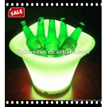 Balde de cerveja LED de plástico colorido tamanho grande