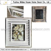 Античная белая деревянная рамка для фото оптом