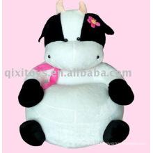 pink plush stuffed animal cow toy sofa